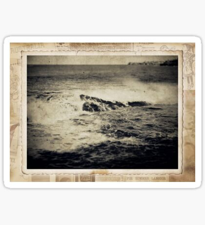 the seaside ~ a nostalgic study I Sticker