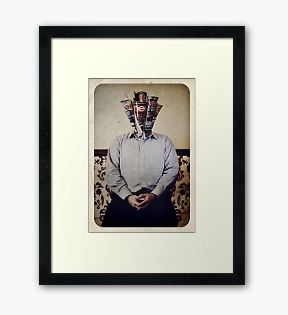 Still Life with The Faceless Man Framed Print