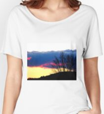 Sun Setting Behind the Hill Women's Relaxed Fit T-Shirt