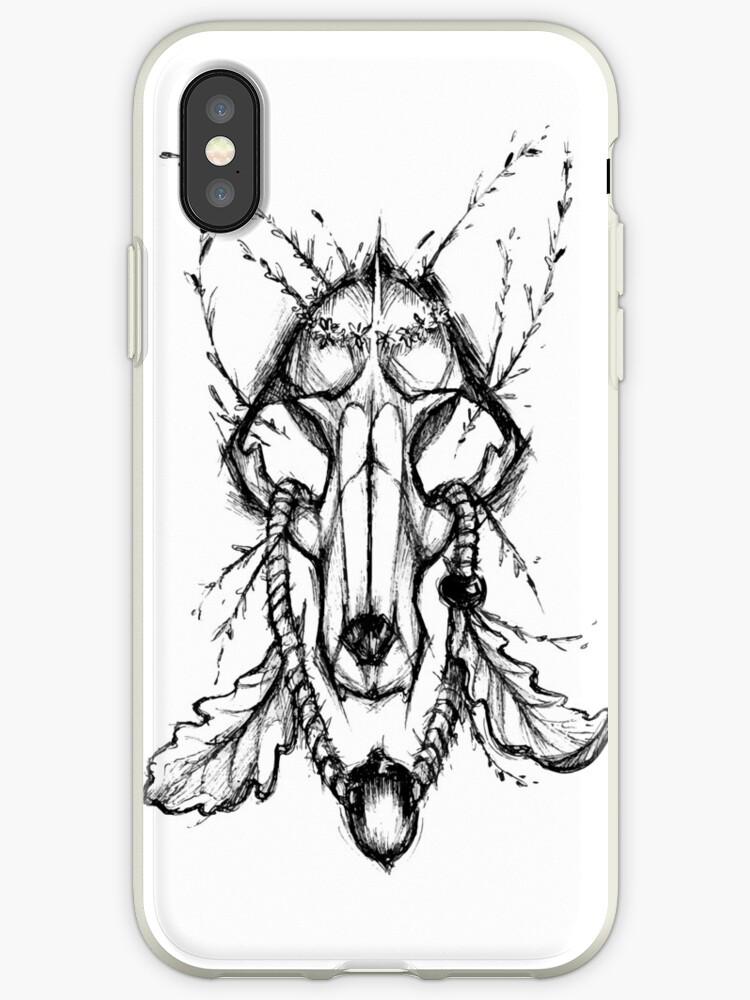 Fox Skull by BlackInkBear