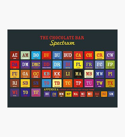 Chocolate Bar Table Photographic Print