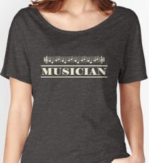 Musician (White) Women's Relaxed Fit T-Shirt