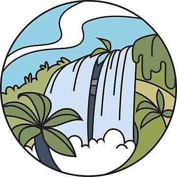 Round Tasmania: Waterfall by taniawalker