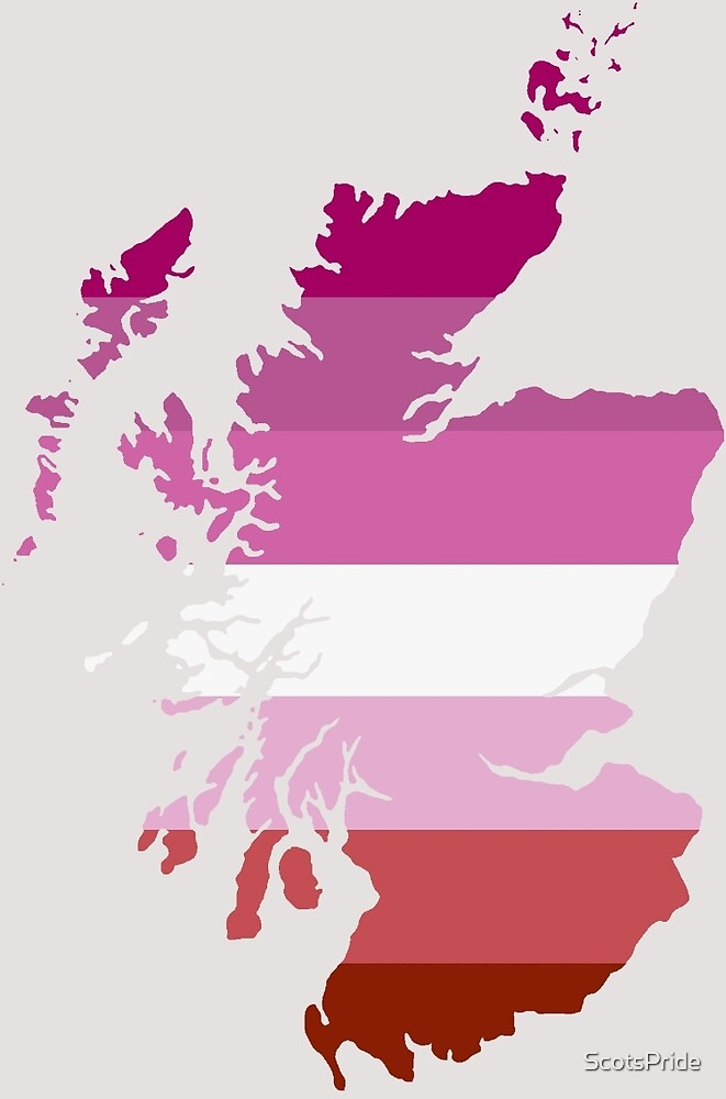 Lesbian Pride Map of Scotland by ScotsPride