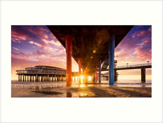 Sunset at the Pier of Scheveningen by MartijnKort