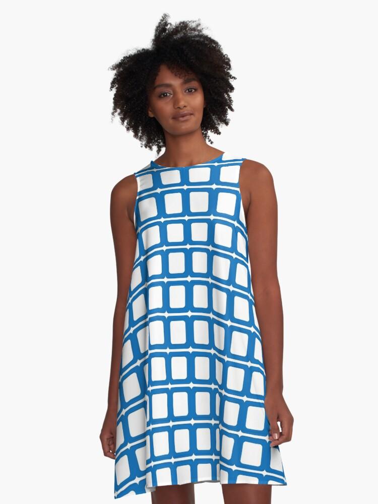 Diamond & Cubes   A-Line Dress Front
