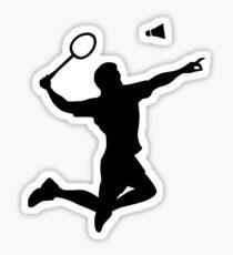 Badminton player jump Sticker