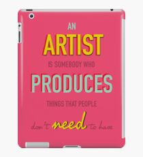Quote Andy Warhol iPad Case/Skin