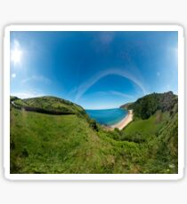 Kinnagoe Bay Panorama Sticker