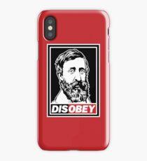 """Henry David Thoreau """"Disobey""""  iPhone Case/Skin"""