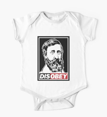 "Henry David Thoreau ""Disobey""  Kids Clothes"