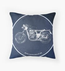 Royal Enfield Bullet 500 classic motorcycle for men cave Throw Pillow