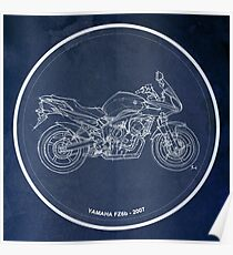 Yamaha 2007, classic motorcycle Poster