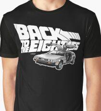 Delorean Back to the Future 80s Style Graphic T-Shirt