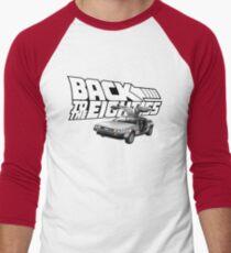 Delorean Back to the Future 80s Style Men's Baseball ¾ T-Shirt