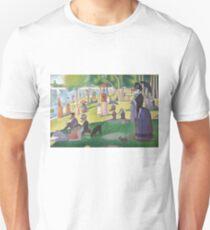 A Dog Day on La Grande Jatte Unisex T-Shirt