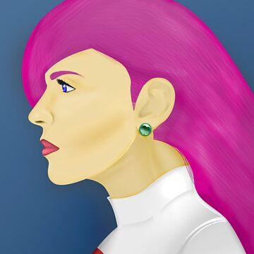Painting Series - Jessie  by lexxclark