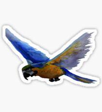 Parrot In Flight Sticker