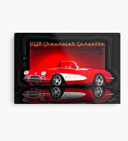 1958 Corvette Roadster 'Reflections' Metal Print