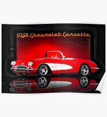 1958 Corvette Roadster 'Reflections' Poster