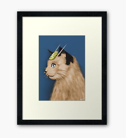 Painting Series - Meowth Framed Print