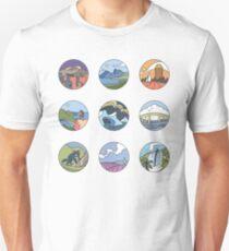 Round Tasmania Vignettes T-Shirt