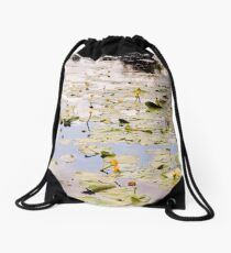 Nuphar Lutea Flowers Drawstring Bag