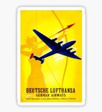 DEUTSCHE LUFTHANSA; German Airway Advertising Print Sticker