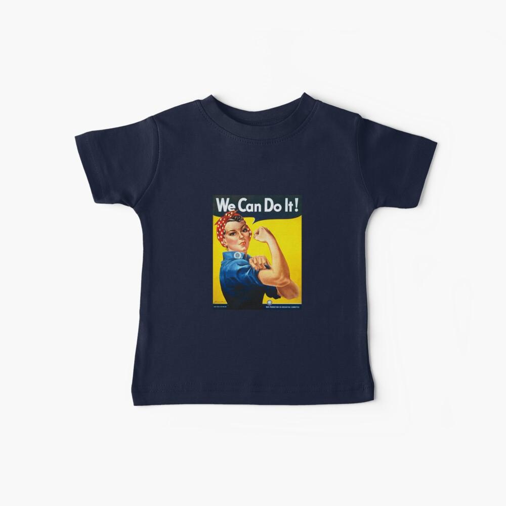 Podemos hacerlo - Rosie the Riveter Camiseta para bebés