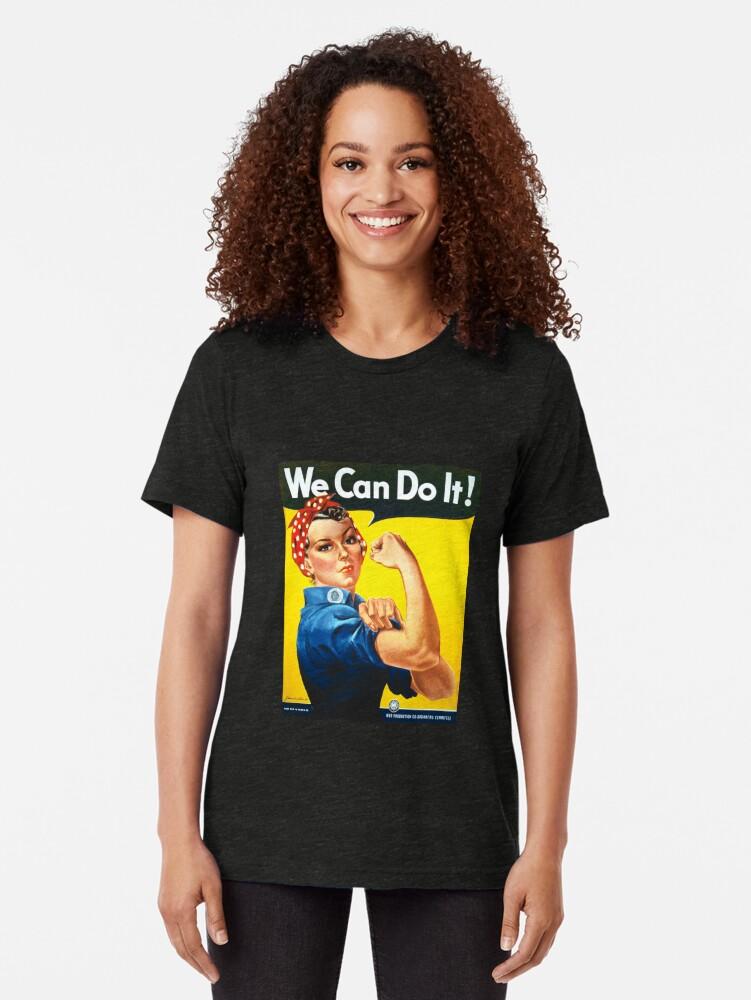 Vista alternativa de Camiseta de tejido mixto Podemos hacerlo - Rosie the Riveter