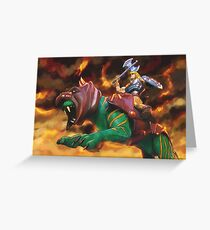 Battlecat and he-man Greeting Card