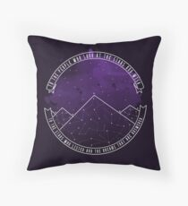 Look At The Stars And Wish | Night Court Throw Pillow