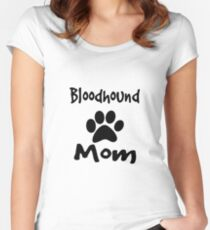 Bloodhound Mom Women's Fitted Scoop T-Shirt