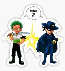 Zoro et Zorro ! Sticker