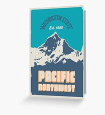 Pacific Northwest. Greeting Card