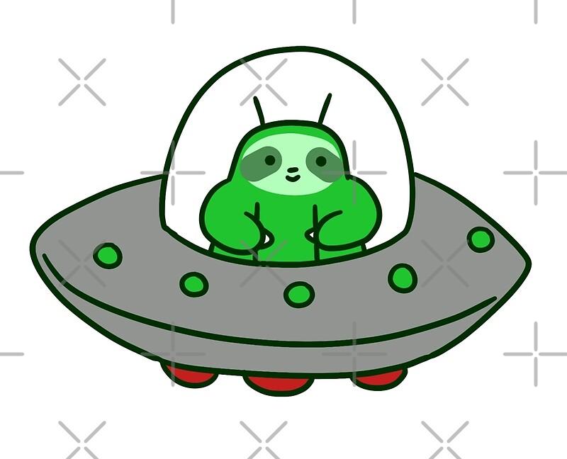 Alien ufo sloth by saradaboru