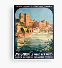 Avignon, French Travel Poster Metal Print