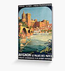 Avignon, French Travel Poster Greeting Card