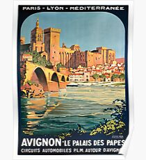 Avignon, French Travel Poster Poster
