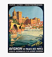Avignon, French Travel Poster Photographic Print