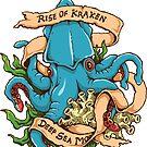 Rise of Kraken Monster Octopus Tattoo Style by pjwuebker