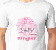 2014  Kinglet with Kingston sihloutte in pink Unisex T-Shirt