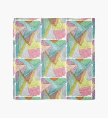 Colorful Watercolor and Ink Abstract Pattern  Scarf