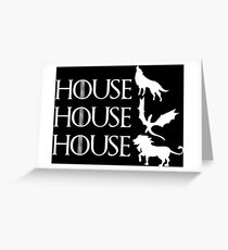 Game of Thrones - Stark - Targaryen - Lannister Greeting Card