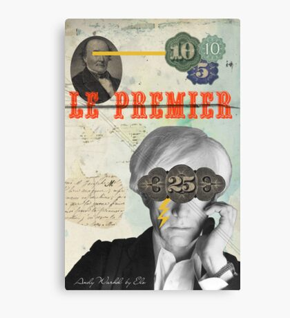 Public Figures Collection -- Andy Warhol by Elo Canvas Print