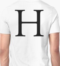 H, Alphabet, Letter, Hotel, Henry, A to Z, 8th Letter of Alphabet, Initial, Name, Letters, Tag, Nick Name Unisex T-Shirt