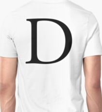 D, Alphabet, Letter, Dee, Delta, Denver, A to Z, 4th Letter of Alphabet, Initial, Name, Letters, Tag, Nick Name T-Shirt