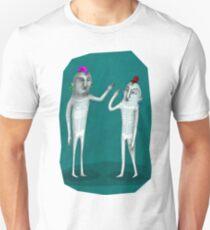 prehistoric hi five in color T-Shirt
