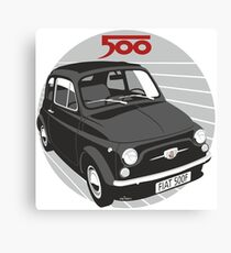 Fiat 500F black Canvas Print