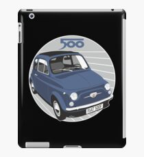 Fiat 500F dark blue iPad Case/Skin